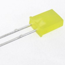 Led Jaune Rectangulaire - 7 mm x 5 mm x 2 mm