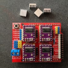 CNC V3 Shield - With 4 DRV8825 Driver Cards for Stepper Drivers