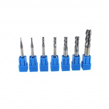 Pack of seven 4-flutes mills- Plating: TRC HRC45